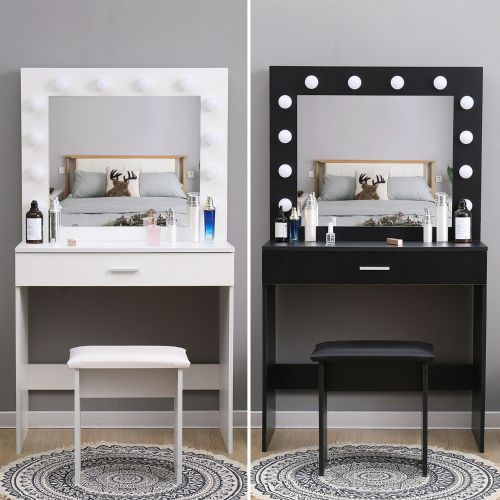 Modern Dressing Table With LED Lights - 3 Colours