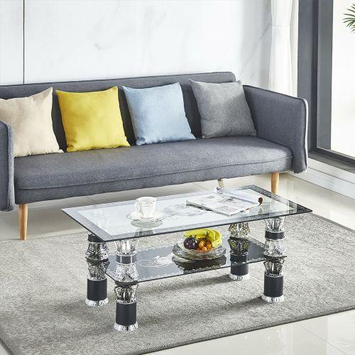 Luxury Glass Rectangle Coffee Table