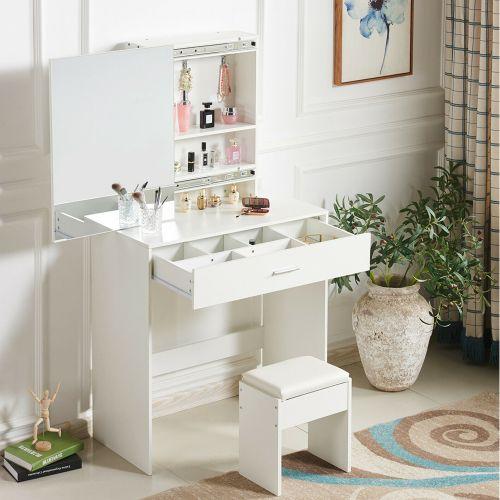 Elegant Dressing Table - White