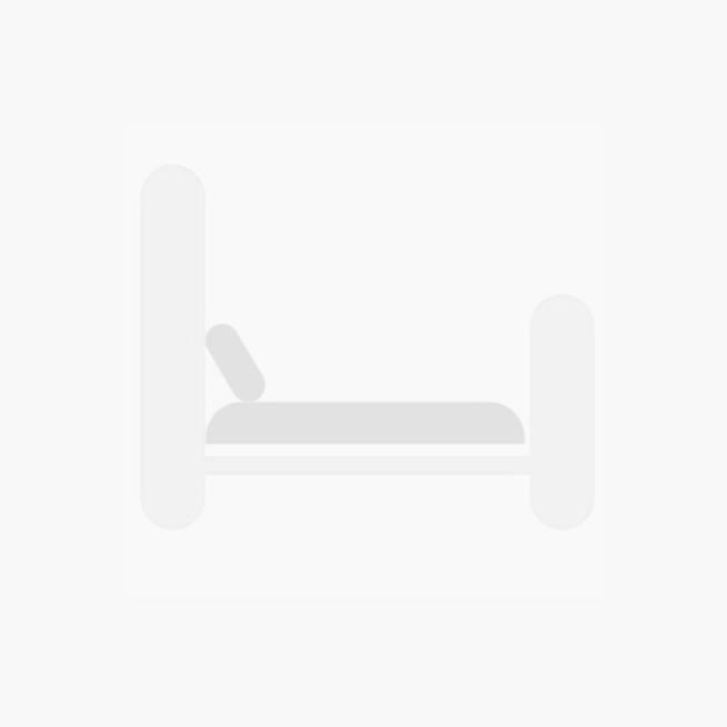 Modern Sliding Mirror Dressing Table - White