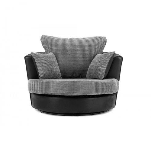 Dino Swivel Chair in Black and Grey or Brown and Beige
