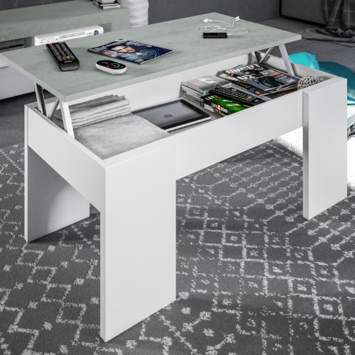 Modern White Lift Up Storage Coffee Table