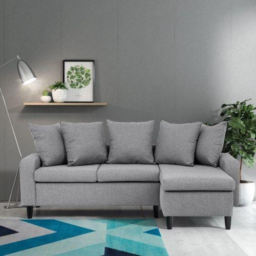 Nepal Corner Sofa - Chocolate, Dark Grey, Light Grey