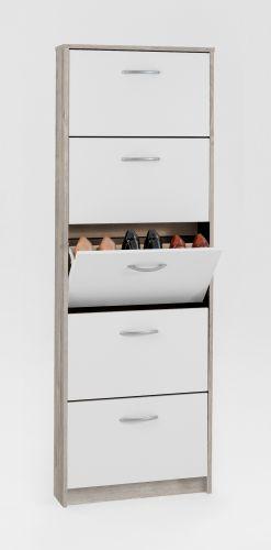 Step 5-Tier Shoe Storage Cabinet - 4 Colours