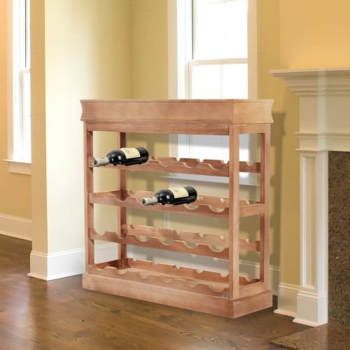 Homcom 4-Tier Wooden Wine Storage Rack - Natural or White