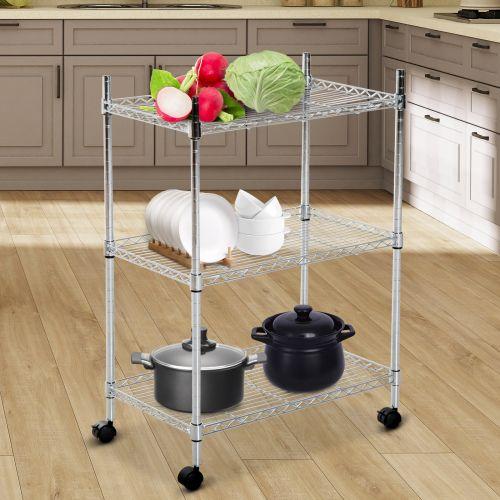 3-Tier Rolling Kitchen Shelf Cart