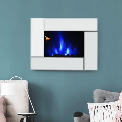 Homcom Modern 1.8KW Wall Mount Coloured LED Fireplace