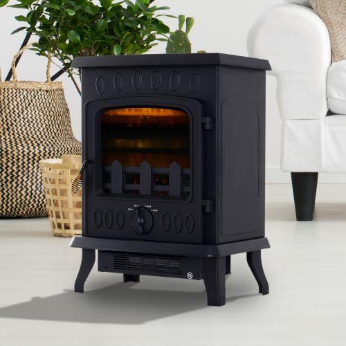 Homcom 1.8KW Freestanding Wood Burn Effect Fireplace
