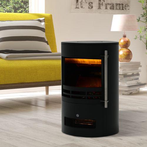 Homcom 1800W Freestanding Electric Fireplace - Black