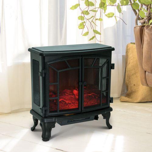 Homcom Freestanding Electric Fireplace Heater 1000W/2000W