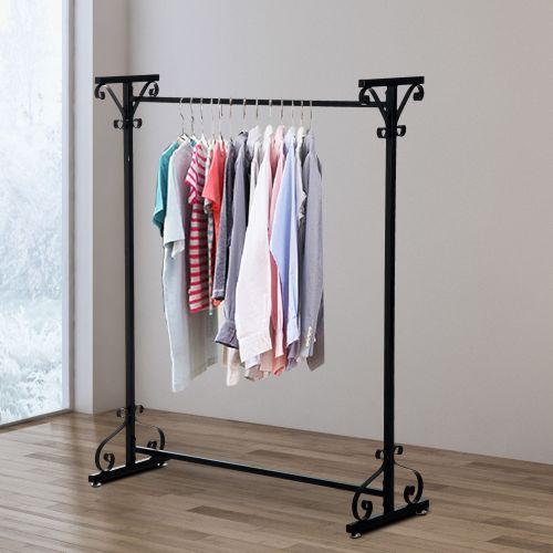 Homcom Black Metal Stand Hanger