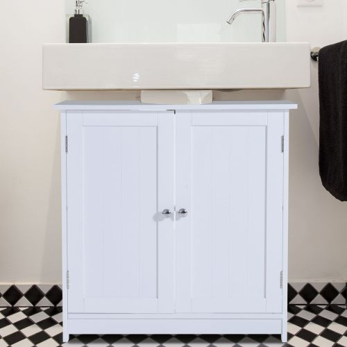 Homcom Under Sink Bathroom Storage Cabinet 2 Layers White