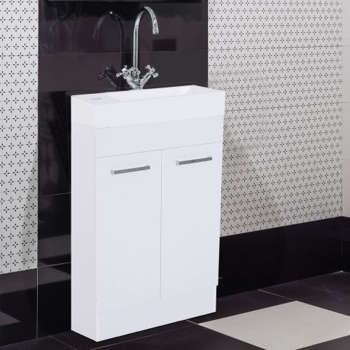 Homcom 2-Door Under Sink Bathroom Vanity Unit