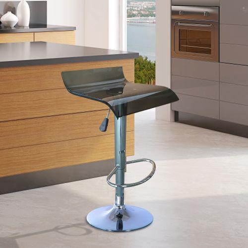 Homcom Clear Acrylic Chrome Bar Stool