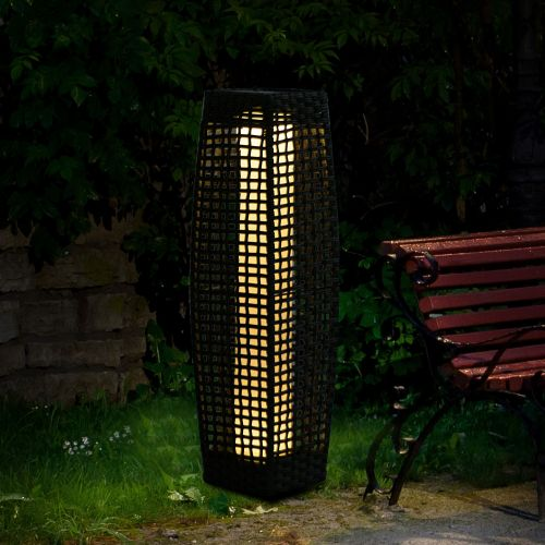 Outsunny 68 cm Outdoor LED Standing Rattan Lamp