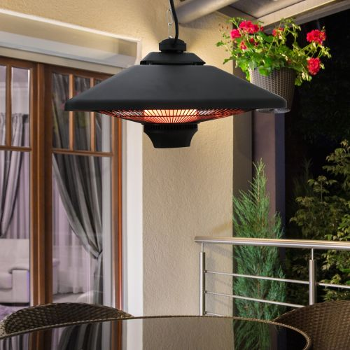 Outsunny 2KW Hanging LED Halogen Heater w/ Remote Control