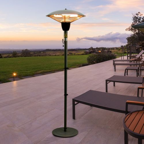 Outsunny Aluminum 1500W Standing Halogen Patio Heater