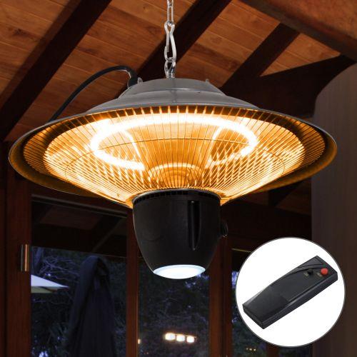 Outsunny 1500W Hanging Aluminium Patio Heater w/ Remote Control