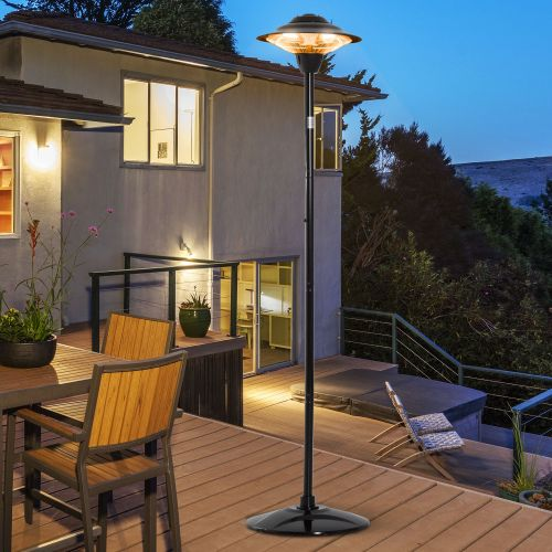 Outsunny Electric 1500W Standing Halogen Patio Heater