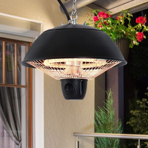 Outsunny Electric 600W Hanging Halogen Light Heater