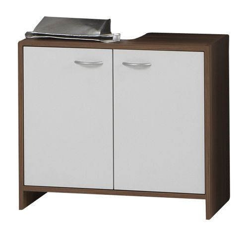 Madrid 2-Door Bathroom Under Sink Cabinet - White & Plum Tree