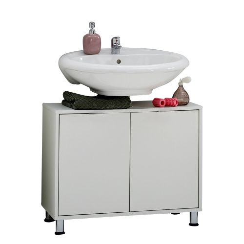 Zamora 2-Door Bathroom Under-Sink Cabinet - White