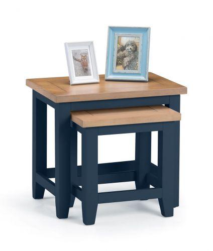 Julian Bowen Richmond Nest of Tables - Midnight Blue