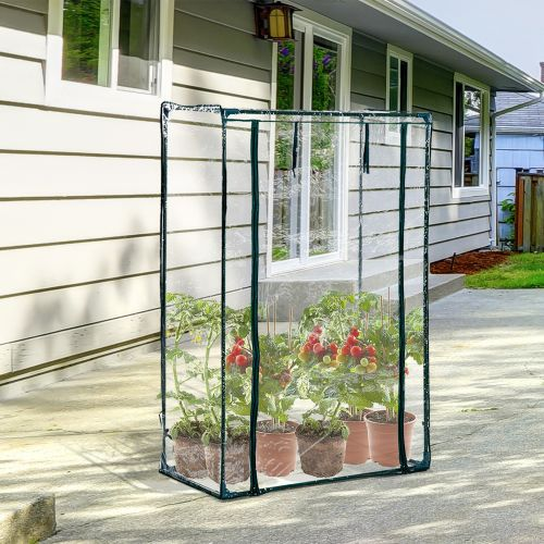 Outsunny Outdoor PVC & Steel Greenhouse Plant Cover