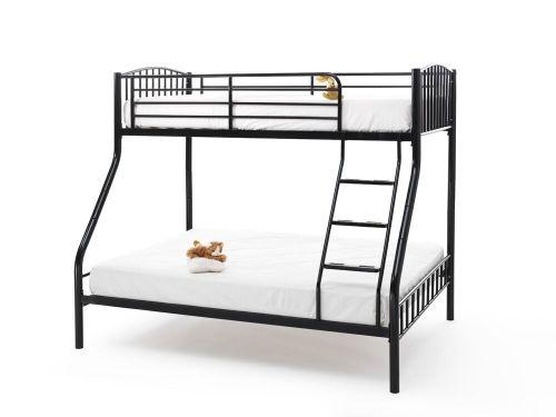 Oslo Triple Sleeper Metal Bunk Bed - Black, White or Silver