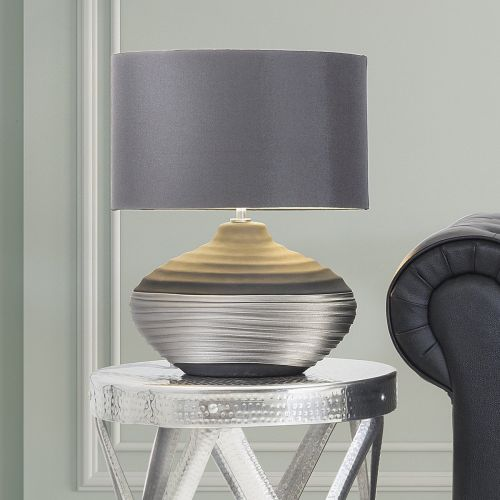 Lima Ceramic Table Lamp - Beige or Grey