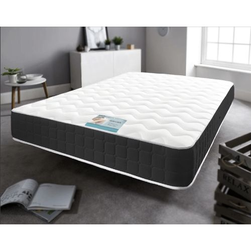 Traditional Black Border Memory Foam Spring Mattress