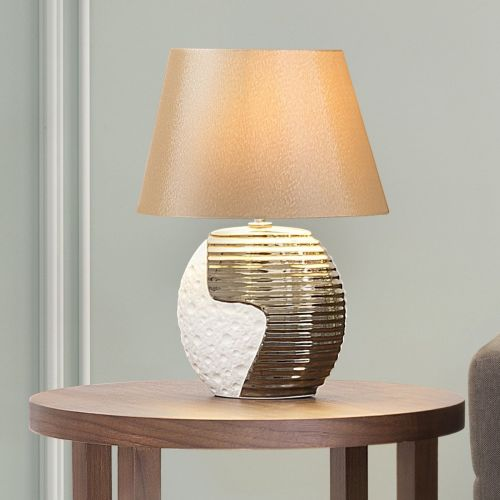 Elsa Elegant Ceramic Table Lamp - Beige or Black