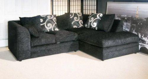 Brittany Chenille Fabric Corner Sofa Suite