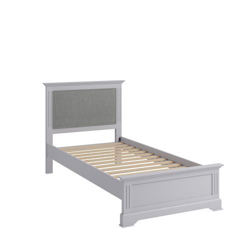 Solid Pine Wood 3FT Single Bed Frame - Grey