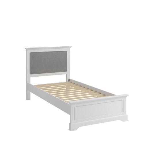 Solid Pine Wood 3FT Single Bed Frame - White