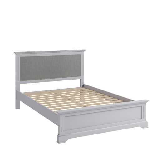 Solid Pine Wood 4FT6 Double Bed Frame - Grey