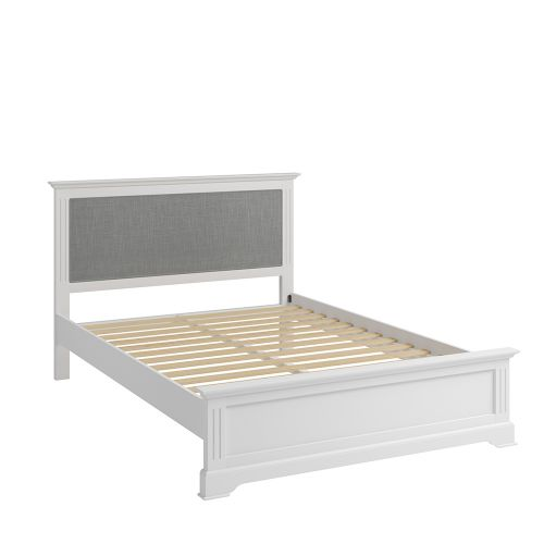 Solid Pine Wood 4FT6 Double Bed Frame - White