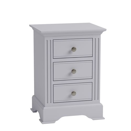 Modern 3 Drawers Large Bedside Cabinet - Grey