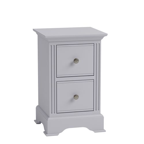 Modern 2 Drawers Small Bedside Cabinet - Grey