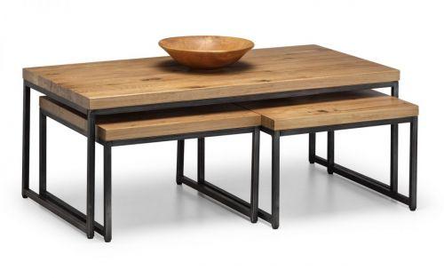 Julian Bowen Brooklyn Nesting Coffee Tables - Oak