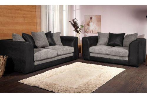Benson Black and Grey 3 and 2 Sofa Set