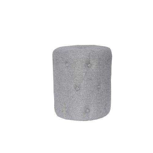 Modern Fabric Stool - Light Grey