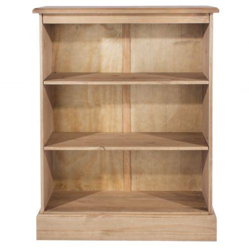 Cotswold Pine 3-Tier Low Bookshelf