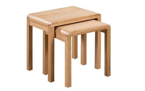 Julian Bowen Curve Nest of Tables - Oak