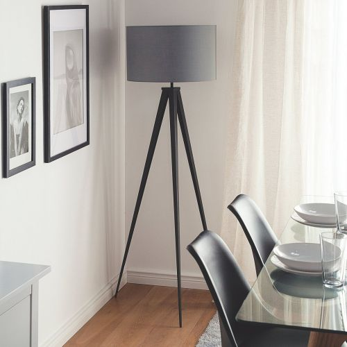 Stillo Metal Tripod Floor Lamp - White, Black, Grey or Copper