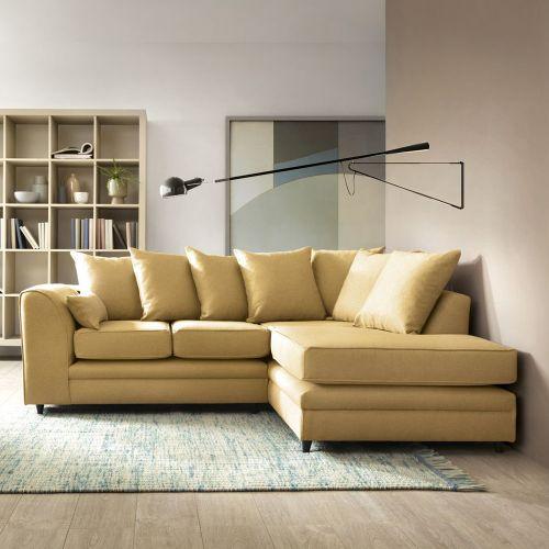 Darcie Corner Sofa - Dark Grey, Light Grey, Mustard, Teal
