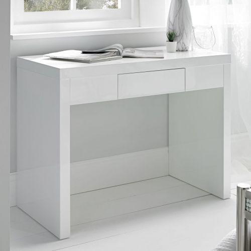 LPD Puro 1 Drawer High Gloss Dressing Table - White
