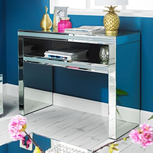 LPD Biarritz Mirrored Console Table