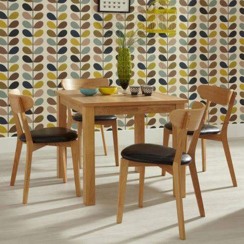 Lambeth Oak Wood Square Dining Table