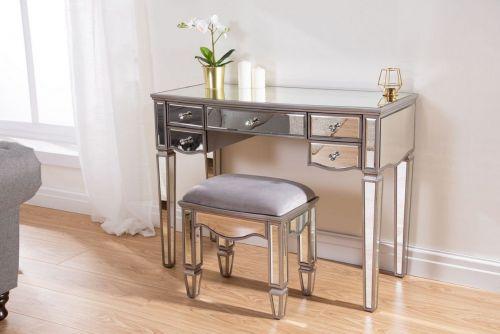 Birlea Elysee 5-Drawer Glass Dressing Table